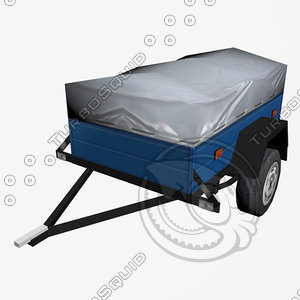 3d model trailer hindcarriage