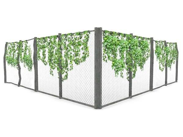 3d games fence ivy model