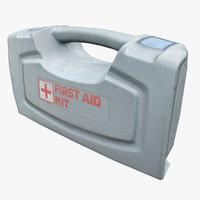 aid kit 3d obj
