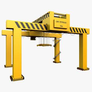 3d container crane model