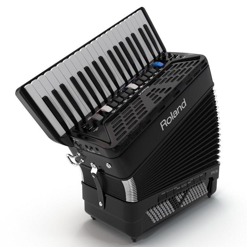 3d c4d accordion roland