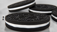 3d oreo cookies glass milk