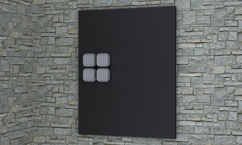 3d model nordsk sybel aluminum wall