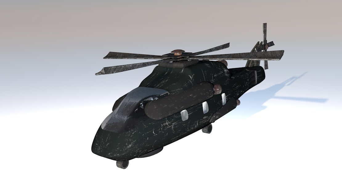 helicopter military 3ds