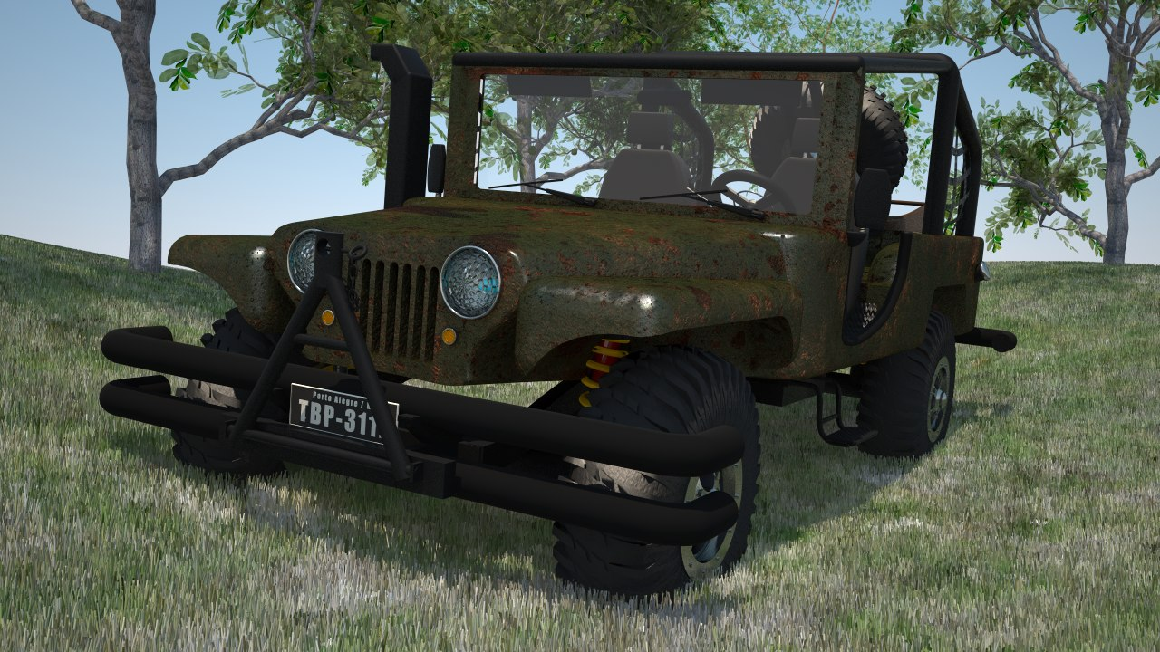 jeep willys c4d