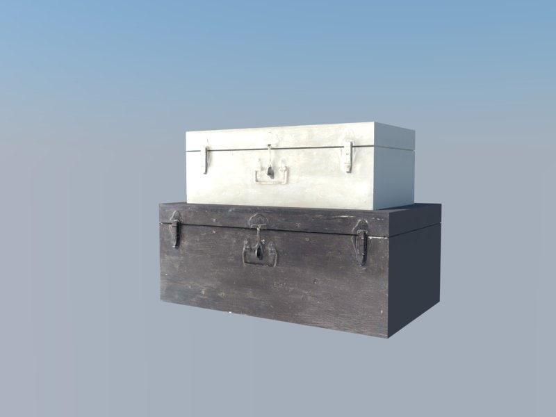 3d model medieval box