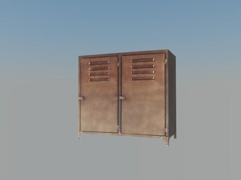 3d old cabinet
