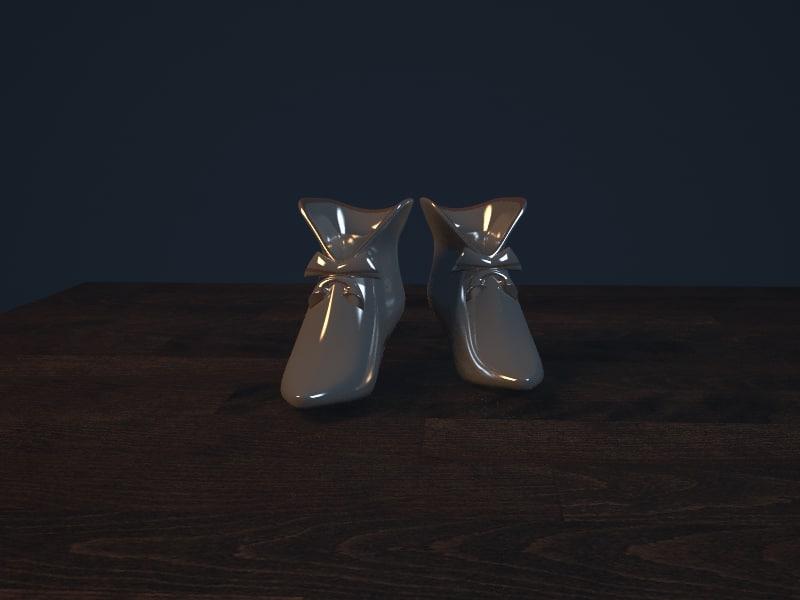 porcelain stand napkins 3d model