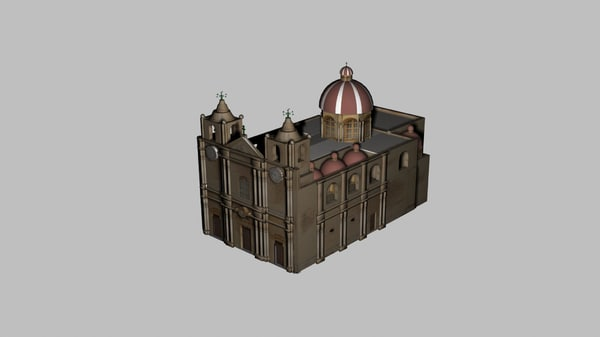 3ds max mdina cathedral