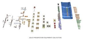 3d gold equipment model