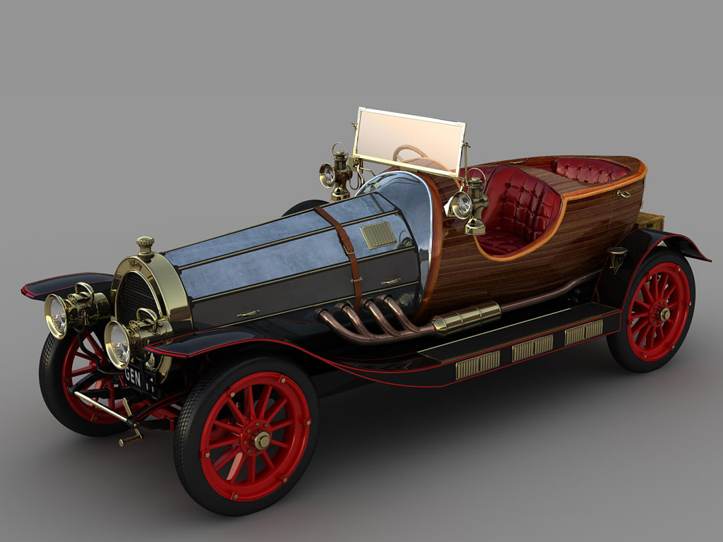 car chitty bang 3d max