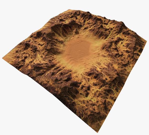 desert terrain 3d model