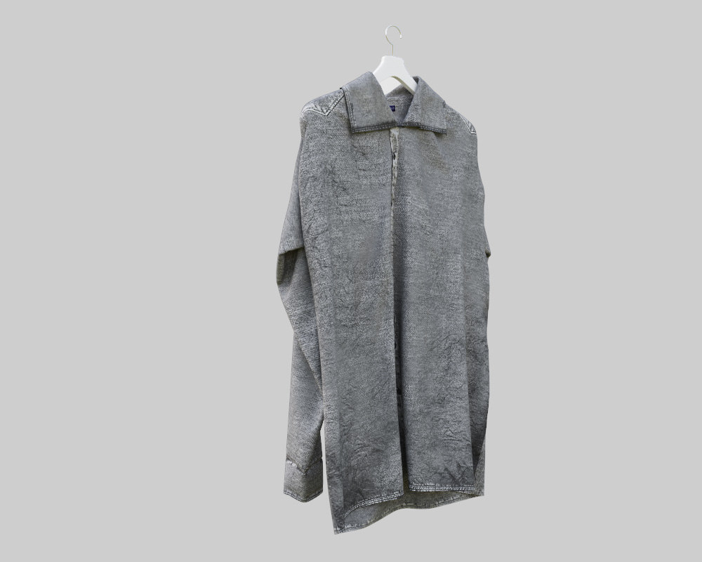 stylish denim shirt 3d 3ds