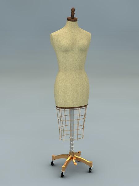 female mannequin 3d c4d