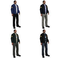 fbi agent rigging 3d model