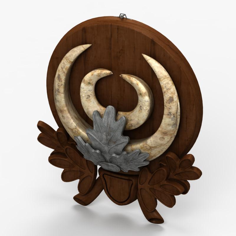 3d trophy ornament model