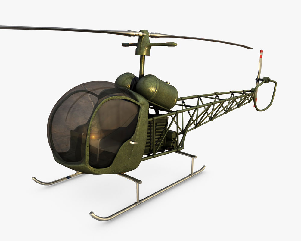 3d model bell 47 helicopter games