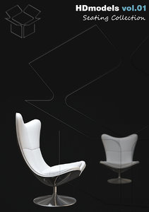 3d model of chairs