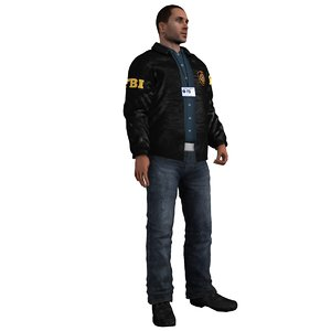 fbi agent rigging 3d max