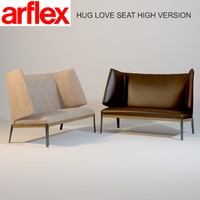 3d arflex hug love seat model
