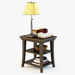 3ds max pottery barn metropolitan table