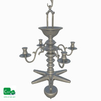 antique chandelier obj