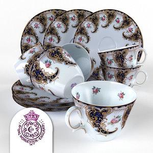 3d model of antique cup royal