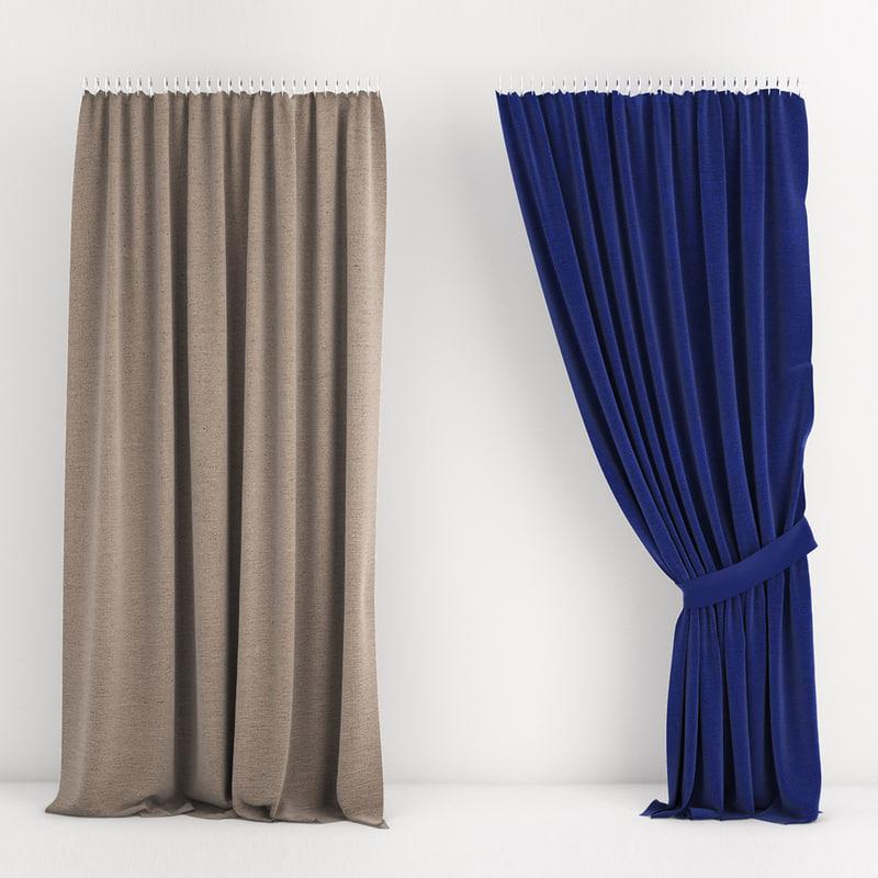 3d curtain 07 model