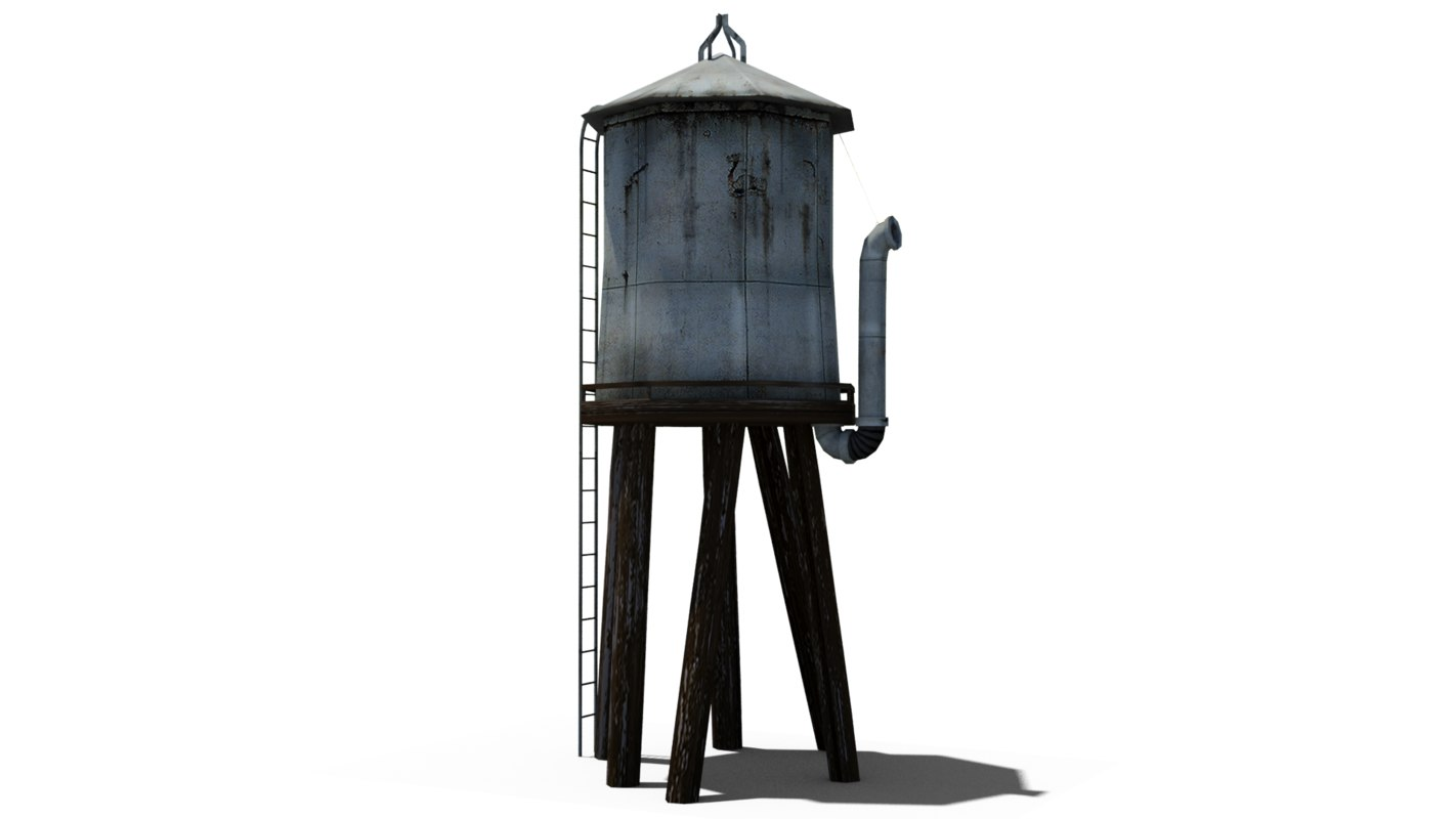 3dsmax water tower