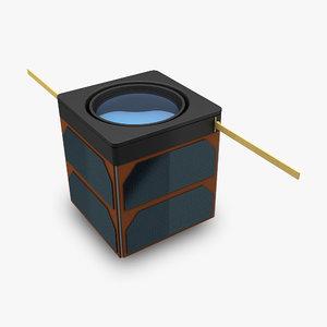 cube satellite obj