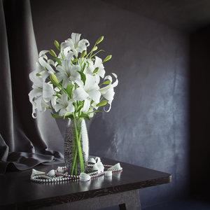 maya bouquet lilys