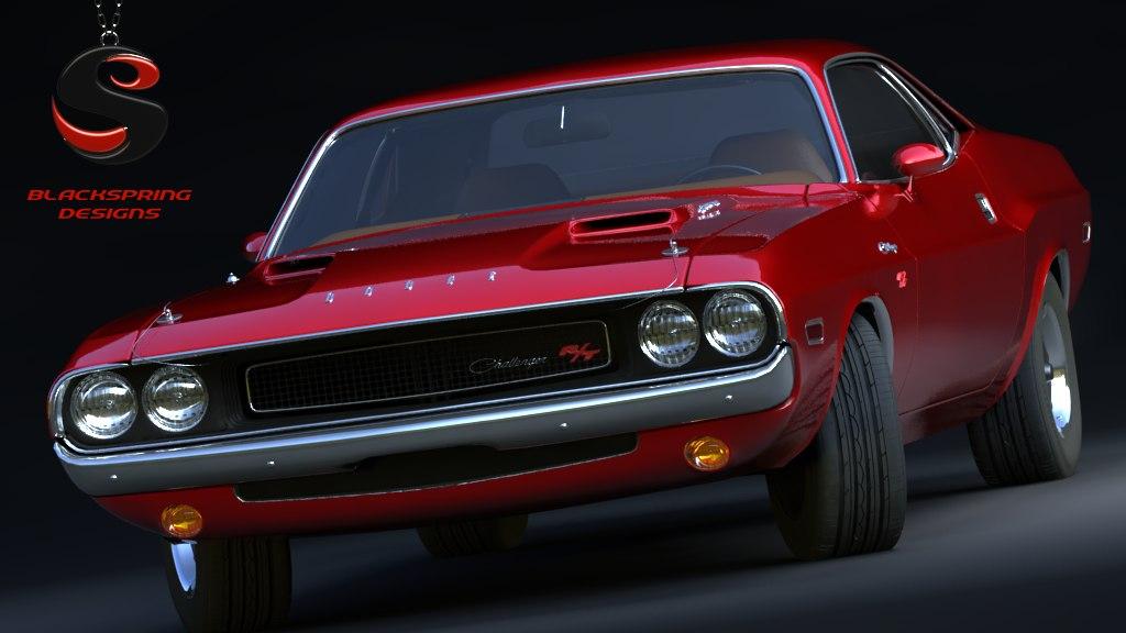 3d Dodge Challenger Rt 1969 Model