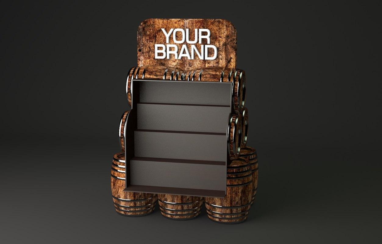 3d model grocery display