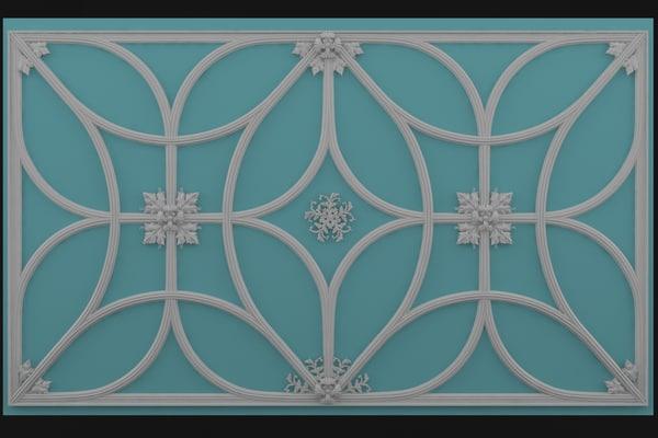 3d model decor wall