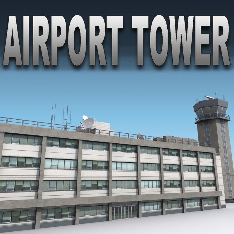 3dsmax airport air tower