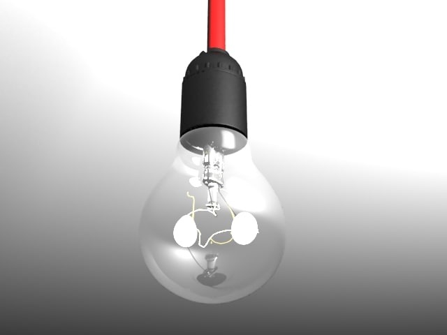 3d model bulb light 1