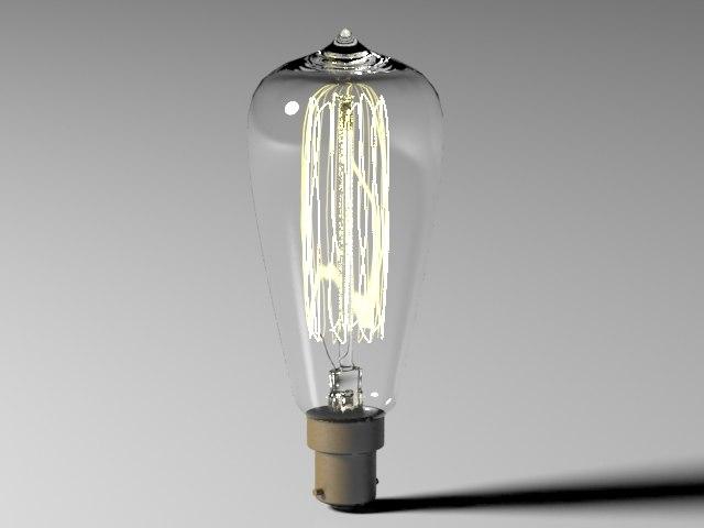 3d bulb light 2 model
