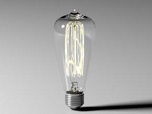3d model bulb light 3