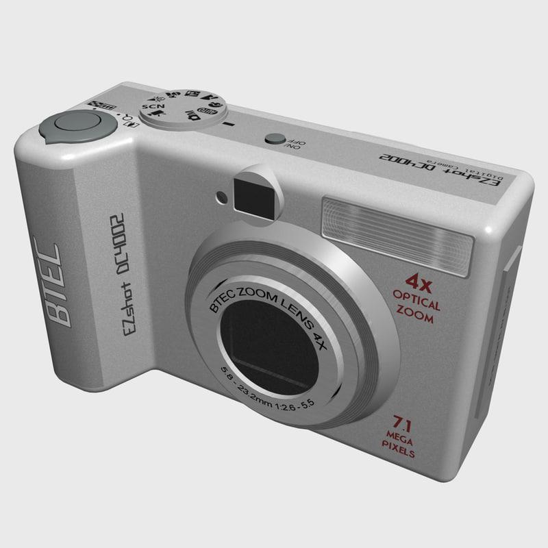 3d model of camera digital