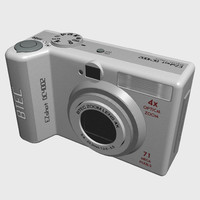 3d model of camera digital
