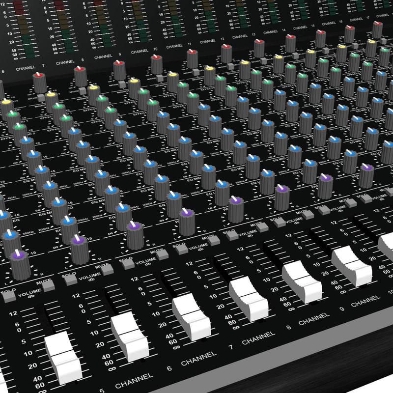 mixing board 3d max