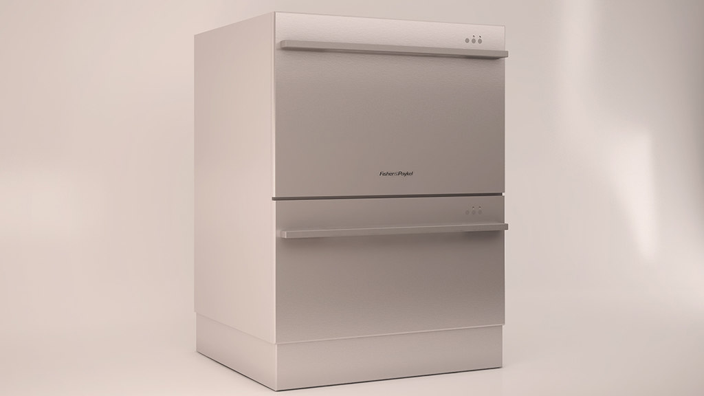 double dishwasher 3d max