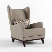 3d armchair headrest pillow chair model