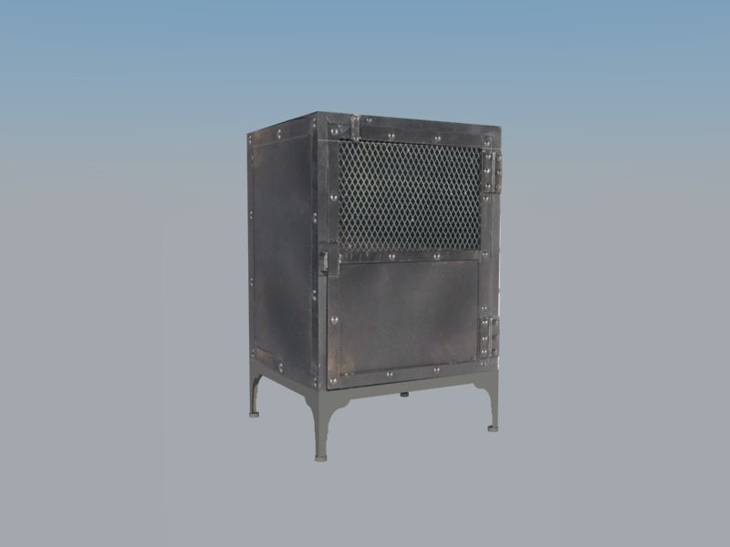 3d small metal cabinet model