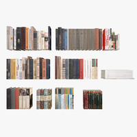 3d model russian books old modern
