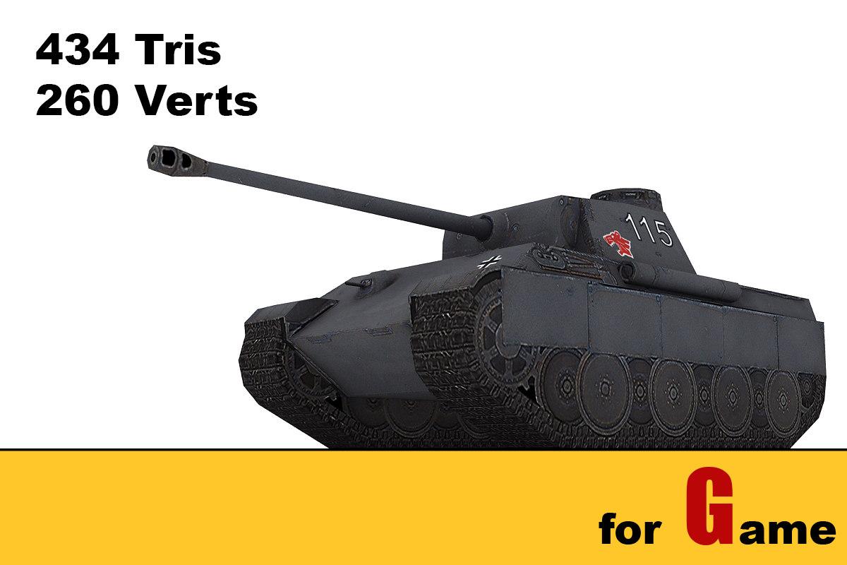 ww ii german tank 3d model