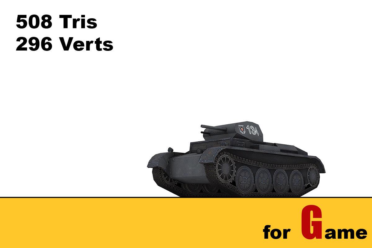 3d ww ii german tank model