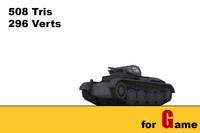PZ II tank lowpoly