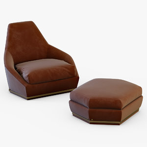 3d model longhi aoyama armchair