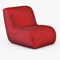 armchair parri birba 3d max